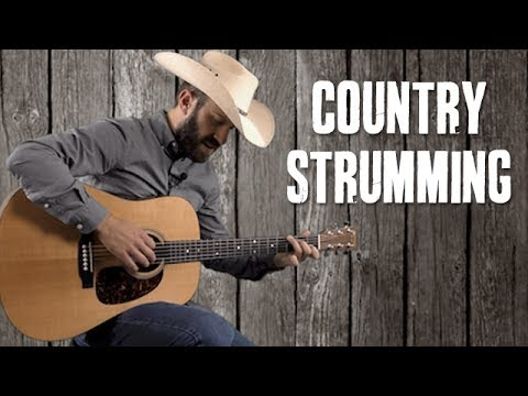 Country Strumming Patterns and Practice over Hank Williams Style Progressions - Guitar Lesson