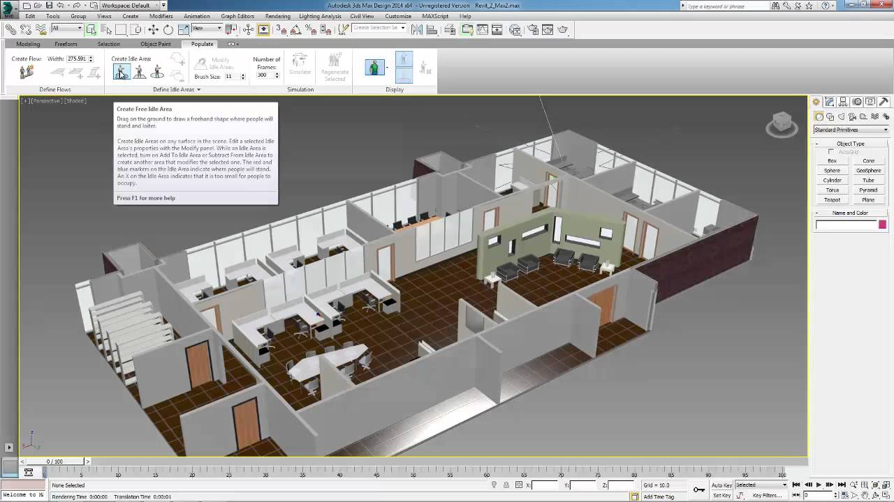 Building design suite workflow how to populate revit for 3ds max design