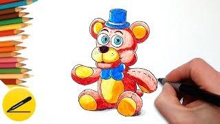 How to Draw Freddy from FNAF step by step ★ Как Нарисовать Мишку Фредди из ФНАФ поэтапно