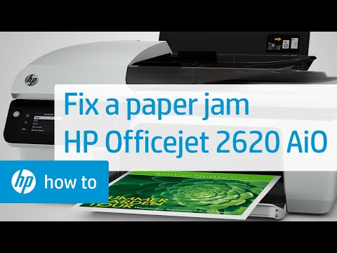 Fixing a Paper Jam in the HP Officejet 2620 All-in-One Printer.