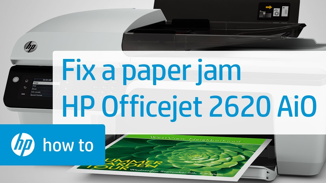 Fixing A Paper Jam In The Hp Officejet 2620 All In One