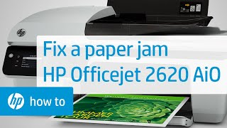 Fixing a Paper Jam in the HP Officejet 2620 All-in-One Printer | HP Officejet | HP