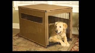 Mr Herzhers 13502 Wicker Dog Crate Extra Large Dark Brown