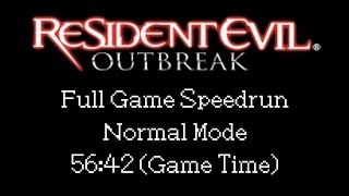 Resident Evil: Outbreak Speedrun (PS2) - Normal/Offline SS (56:42)