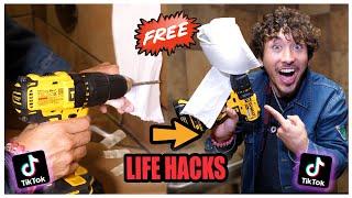We TESTED Viral TikTok QUARANTINE Life Hacks.... (Life Saving)