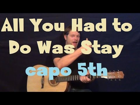 """""""All You Had To Do Was Stay"""" (Taylor Swift) Easy Guitar Lesson How To Play Tutorial"""