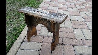 Mаленькая скамейка за час из обрезков