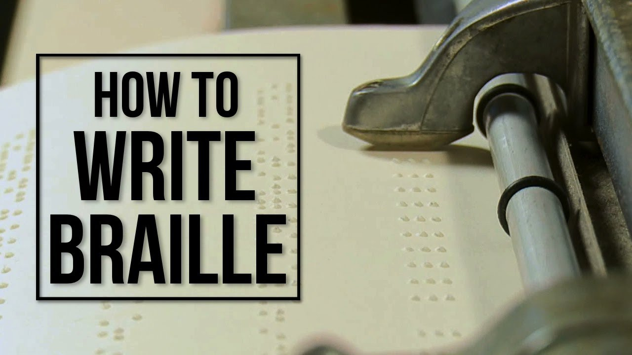 How Blind People Write Braille  Youtube