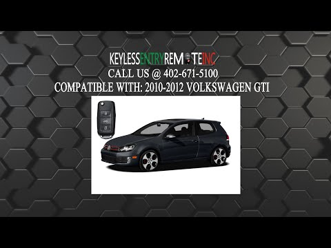 How To Replace Volkswagen GTI Key Fob Battery 2010 2011 2012