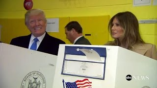 Donald Trump Votes with Melania, Ivanka | Election 2016