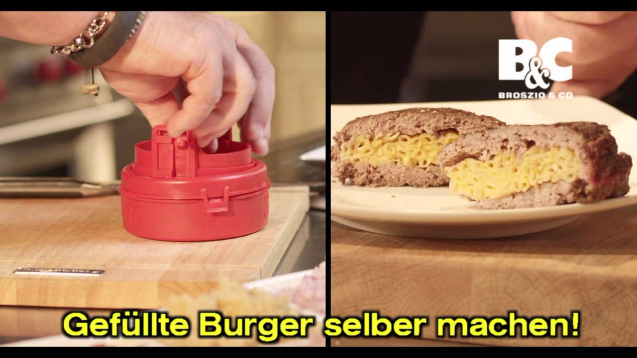 stuffy burger patties maker hamburger selber machen 01681 youtube. Black Bedroom Furniture Sets. Home Design Ideas