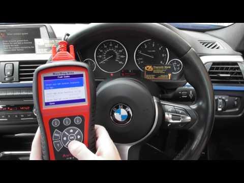 BMW F30 F31 F32 Airbag Light Autel MD802 Reset 930928 93097C 9309C4