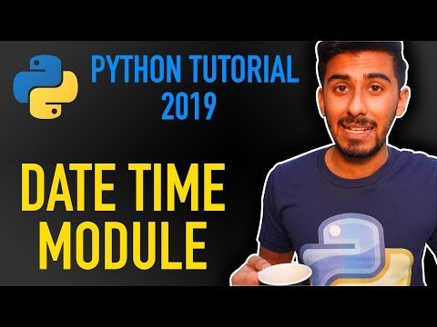 how to work with datetime in python (Python tutorial for beginners 2019) thumbnail