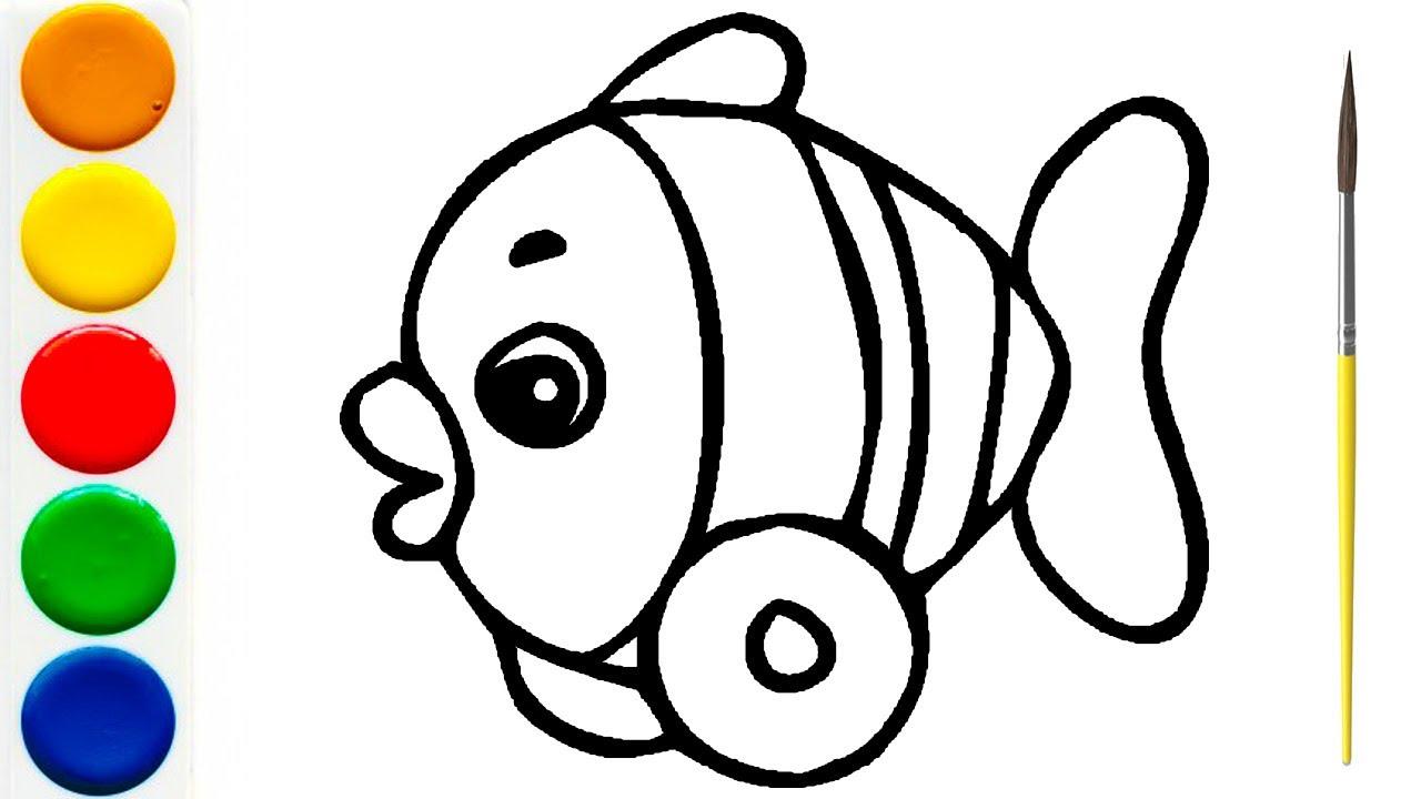 Рисование и Раскраска ИГРУШКА РЫБКА | Раскраска для детей ...