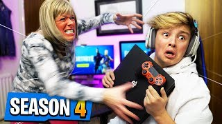 Mom tells Kid he can't play Fortnite Season 4 ever again.. [MUST WATCH]