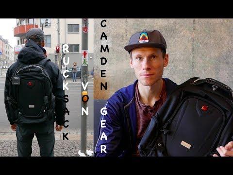 13dea760ce91 Rucksack von Camden Gear -Unboxing + Test + Review- für die Arbeit zum  Einkaufen und im Urlaub