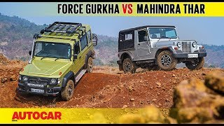 Force Gurkha Explorer vs Mahindra Thar CRDe | C...