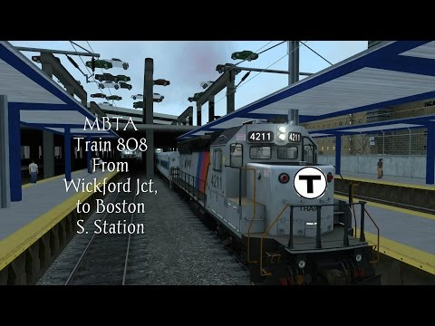 MBTA Train 808 From Wickford Jct to Boston South Cab Ride