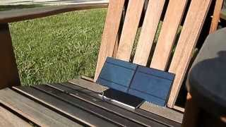 DIY Solar cell phone charger 2 in Action!