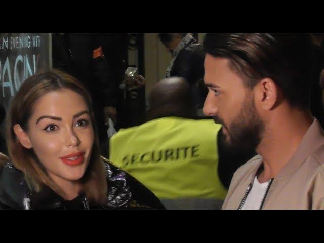 Nabilla Benattia et Thomas Vergara arrivent au show de Al Pacino à Paris le 22 octobre 2018