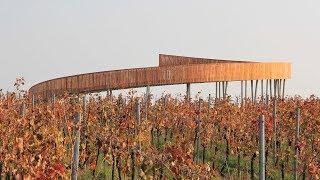 Keeo4design builds spiralling viewpoint in a Czech hilltop vineyard