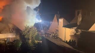 Großbrand in Burgen (Untermosel)