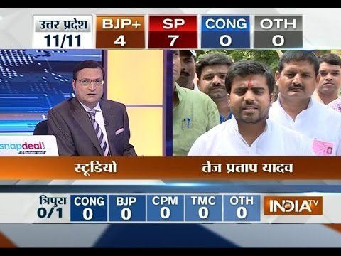 Mainpuri Candidate Tej Pratap Yadav Speaks With India TV - India TV