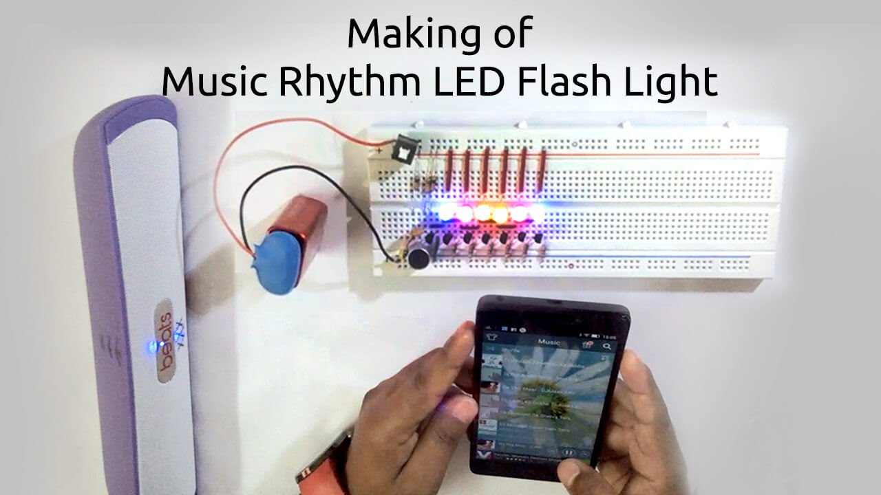 How To Make A Music Rhythm Led Flash Light Using Microphone Youtube So The Leds Are Not Over Driven 555 Ic Projects And 4017ic