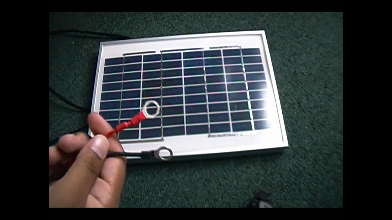 5 Watt Solar Panel Review Youtube