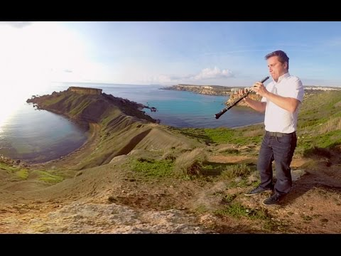 360 Video * May It Be - Enya I Oboe Cover By Toms Abelis