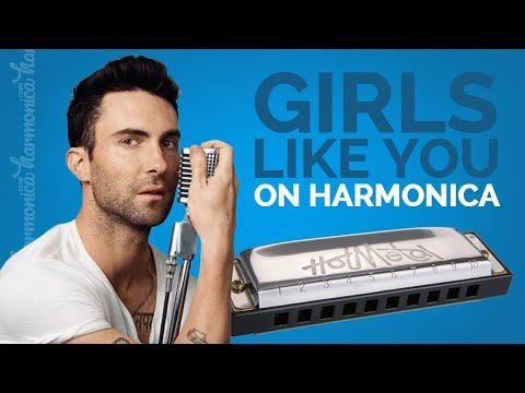 Maroon 5 - Girls Like You (Harmonica Cover)