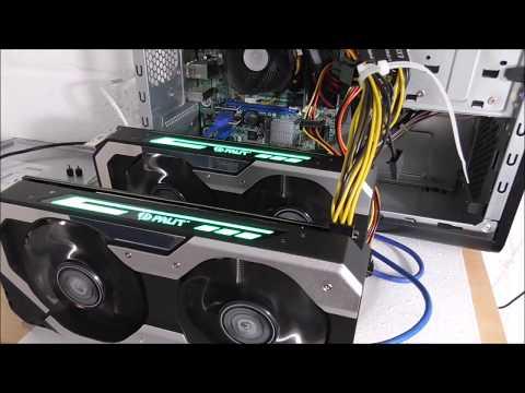 Ethereum 49Mh/s 2xGTX 1060 6GB budget mining build plus watts at plug