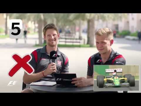 Haas F1's Romain Grosjean And Kevin Magnussen | F1 Grill The Grid 2017