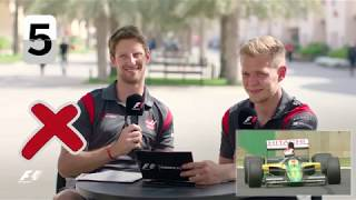 Haas F1's Romain Grosjean And Kevin Magnussen | F1 Grill The Grid