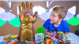 HUGE Avengers Infinity Gauntlet Surprise Toys Super Hero Blind Bags & Eggs for Boys Kinder Playtime