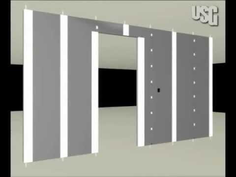 instalacin en tablaroca de pared con marco para puerta