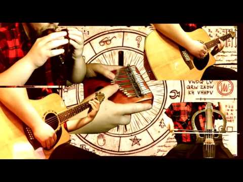 Gravity Falls Theme  (w/ Music Box Kikkerland, Ocarina, 12 string guitar, E. Cello, Kalimba)