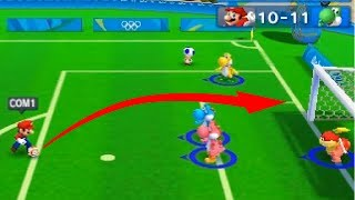 Mario and Sonic at The Rio 2016 Olympic Game( 3DS) #Football - Team Yoshi  vs Team Mario(CPU)