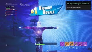 "Getting my SUBSCRIBER his FIRST ""VICTORY ROYALE"" in FORTNITE! ""GALAXY"" SKIN Gameplay 