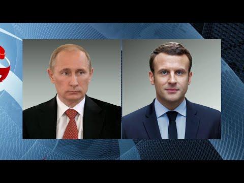 Ситуацию в Идлибской зоне деэскалации Владимир Путин обсудил с Эммануэлем Макроном и Хасаном Роухани