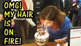 Hair Getting Caught on Fire Compilation 2015 [NEW]