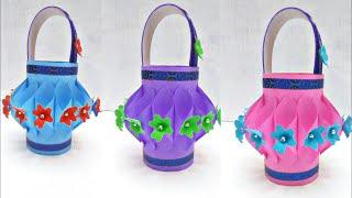 DIY || Paper Basket || Plastic Bottle Basket || Easy Paper Art || Plastic Bottle Reuse ideas