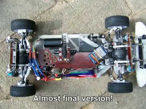 My Homemade Rc 1 10 Onroad Chasis Youtube