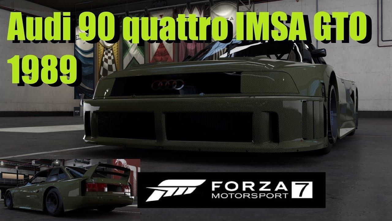 Forza Motorsport Gameplay Audi Quattro IMSA GTO YouTube - Audi 90 car mats