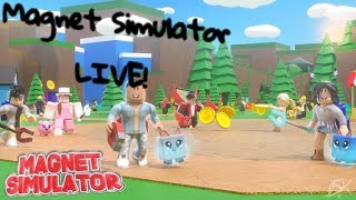 Grinding For NEW PETS! Giving away Pets! Magnet Simulator live   Roblox