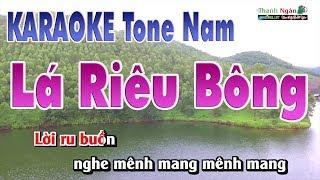 Lá Diêu Bông Karaoke | Beat Chất Lượng Cao ( Tone Nam ) - Nhạc Sống Thanh Ngân
