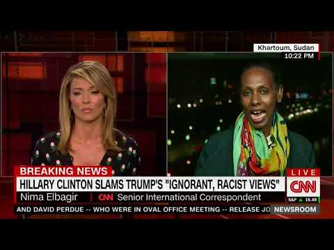 "CNN journalist Nima Elbagir in Sudan with reaction to Trump's ""shithole countries"" comments"