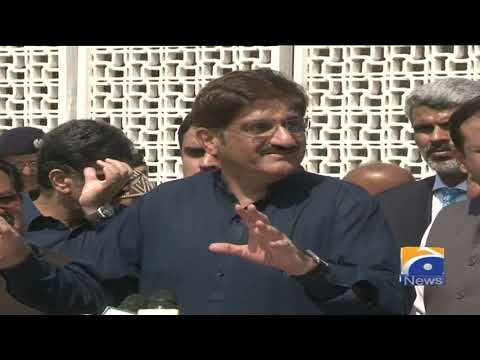 CM Sindh Murad Ali Shah ki karachi mein media se guftagu