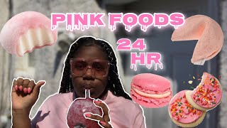 I ONLY ATE PINK FOOD FOR 24 HOURS *BAD BAD IDEA*🤮🥰