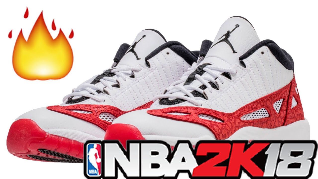 50560062cca HOW TO MAKE JORDAN 11 LOW IE WHITE/RED | NBA 2K18 - YouTube